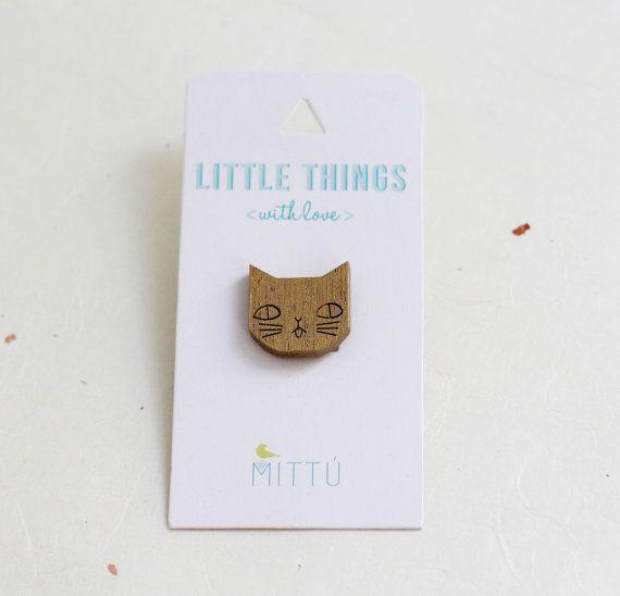 Broche gatito dorado por MITTUEspana en Etsy