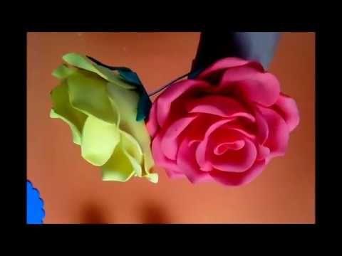 (319) como fazer rosas de e.v.a com litro pet 2 litros (frisador caseiro) - YouTube