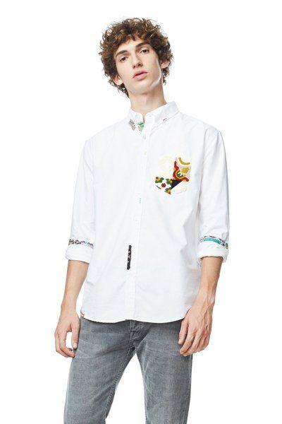 Camisa Aleix Desigual. Descubre la colección otoño-invierno 2017. ¡Devoluciones y envío a tienda gratis!