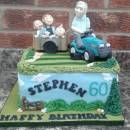 Lawn mower cake- (and a cart load full of mischief)