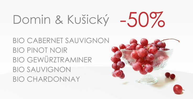 1.3.2014 - 7.3.2014 we offer you 50% discount on all wines by manufacturer Domin & Kušický  http://www.slovakiawine.eu/en/12_domin-and-ku%C5%A1ick%C3%BD