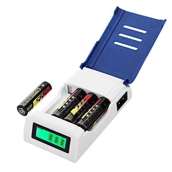 Doublepow Universal 6 Slots LCD Display AA AAA Rechargebale Battery Charger PH