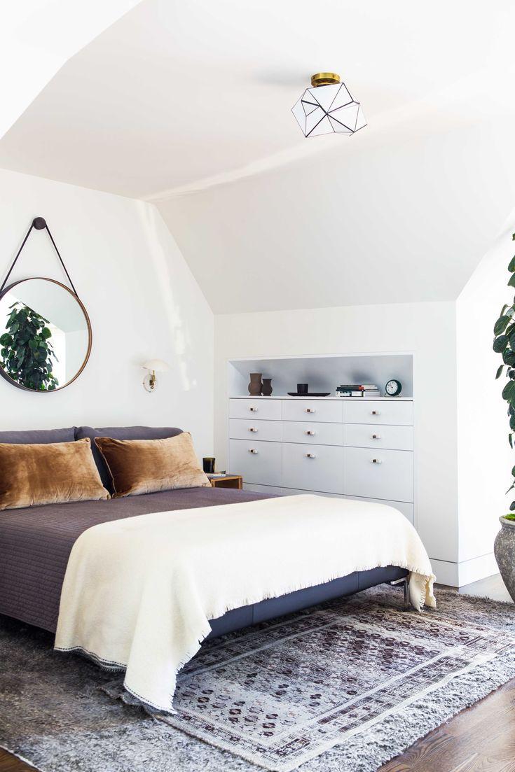 Salon Blanc Bois Noir : la #chambre à coucher ! httpwwwmhabitatfrparpieceschambre