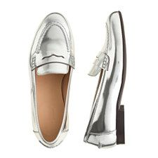 J.Crew - Silver Loafers are HOT!