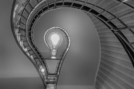 Lightbulb Stairwell Photo by Kaja Curtis -- National Geographic Your Shot