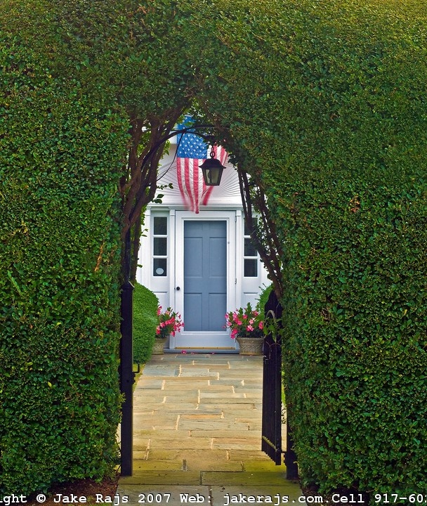 Privet Hedge, American Flag, East Hampton, New York