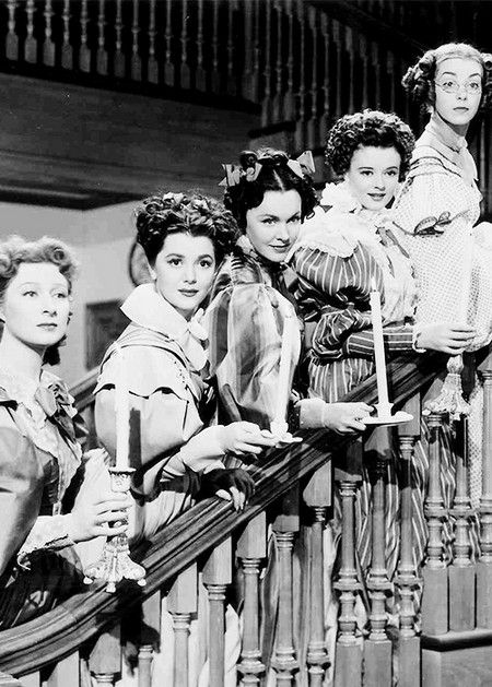 "Greer Garson, Ann Rutherford, Maureen O'Sullivan, Heather Angel and Marsha Hunt as the Bennet sisters in ""Pride and Prejudice"" (1940)."