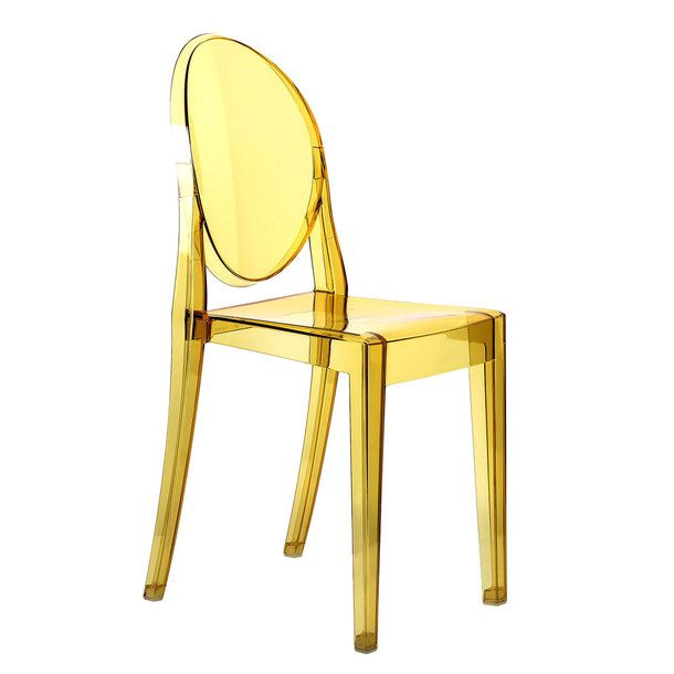 Victoria ghost chair yellow by phillippe stark for kartell for Chaise ghost kartell