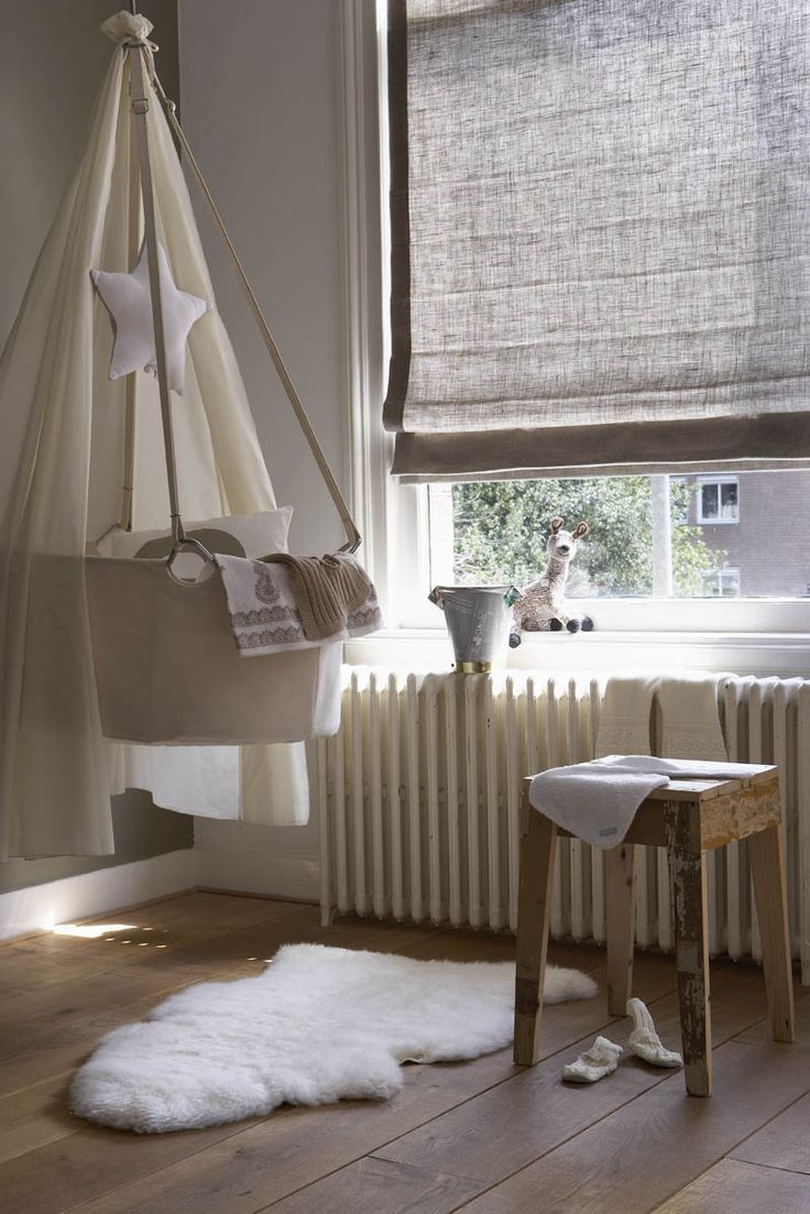Luxaflex® Roman Shades are perfectly suitable for a nursery! Beautiful fabrics, optimal daylight control and child safe. www.luxaflex.com
