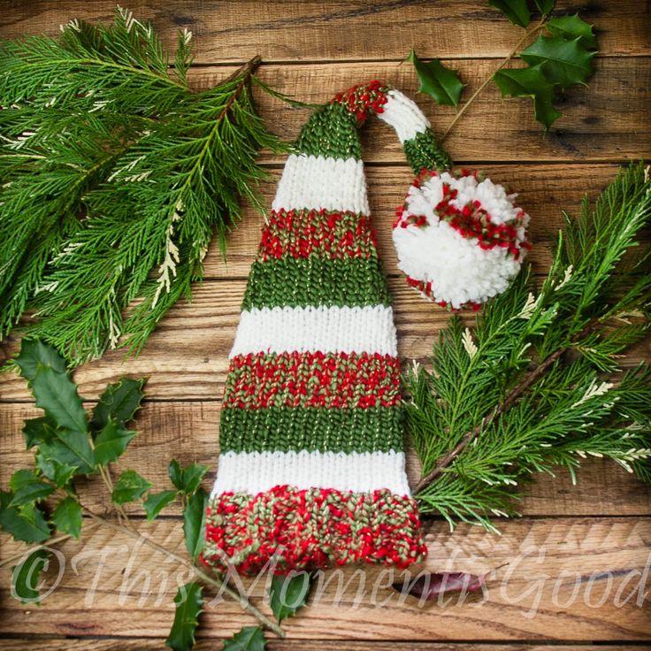 Loom Knit Christmas Ornaments Part - 39: LOOM KNIT ELF U0026 WATERMELON HAT PATTERNS More