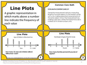FREE Line Plots: You will receive six math review task cards for your 2nd grade students to practice interpreting line plots.   https://www.teacherspayteachers.com/Product/Line-Plots-Task-Cards-FREE-2nd-Grade-Common-Core-Math-2409240