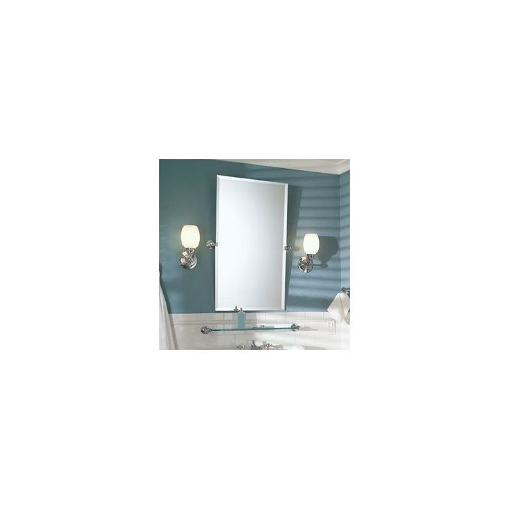 Ginger 0142N Frameless Mirror from the City 212 Collection Polished Chrome Home Decor Mirrors Wall