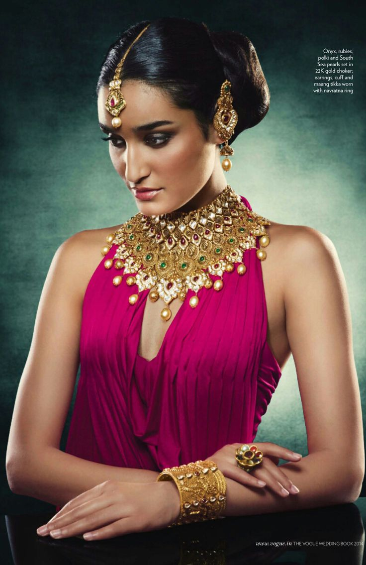 Jewels pinterest beautiful indian wedding jewellery and jewellery - The Vogue India Wedding Book September 2014 Hazoorilal Legacy