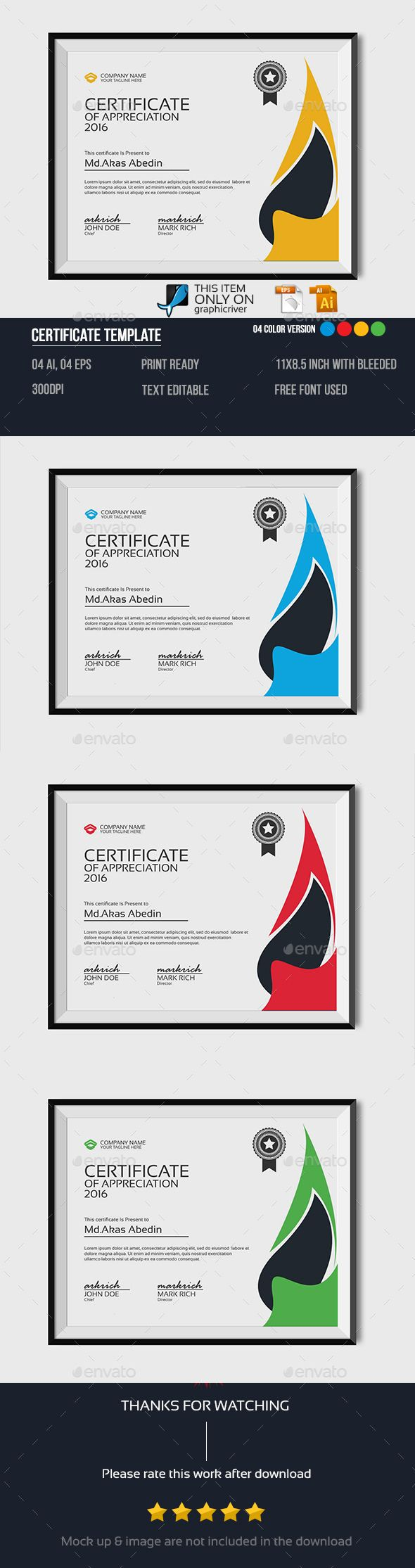 25 unique certificate templates ideas on pinterest free certificate template certificate template vector eps vector ai download here http yadclub Choice Image