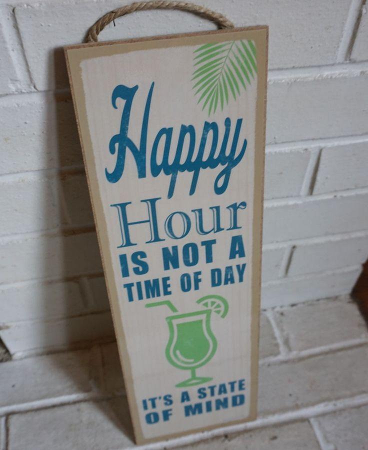 Superb Detalles Acerca De Hora Feliz No Es Un Momento Del Día Tiki Beach Bar  Cantina Decoración Del Hogar Gran Cartel Nuevo  Mostrar Título Original
