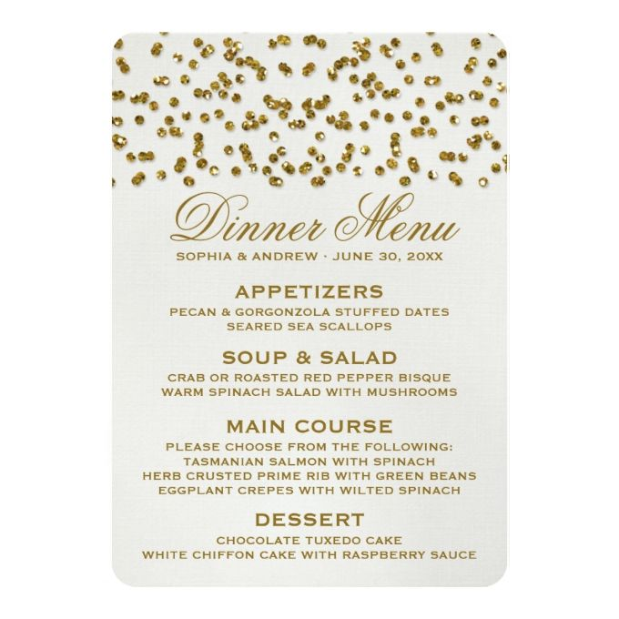 2481 best Wedding Menu Templates images on Pinterest Menu - dinner party menu template