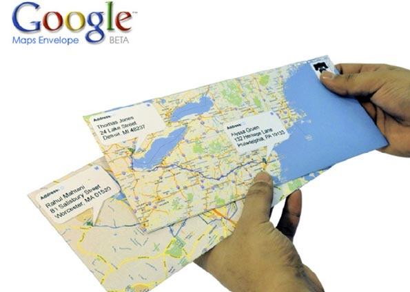 To sem idéia: Google Maps Envelope - Carta interativa