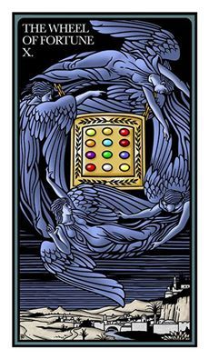 X-Wheel of Fortune from the Raziel Tarot Robert Place's photo.