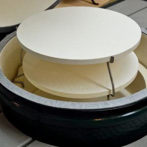 Big Green Egg Double Pizza Stone Accessory