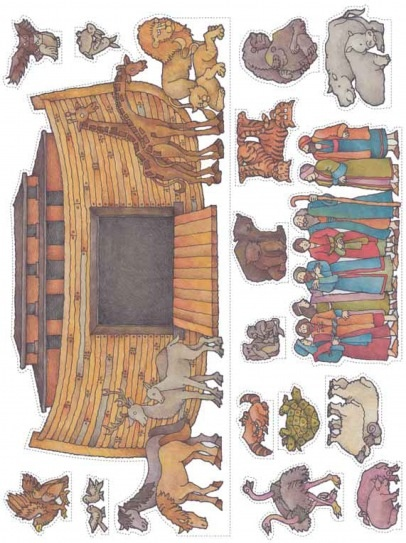 Noah's ark cutouts - don't like that the ark has the 'fairy tale' look, but good animal cut outs.