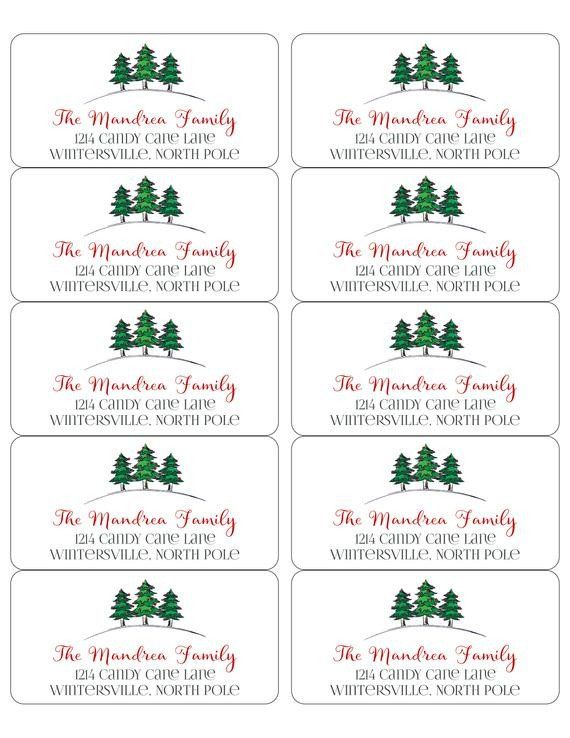 2x4 Inch Label Template Editable Christmas Address Label Template Envelope Addressing Christmas Address Label Template Label Templates Christmas Address Labels
