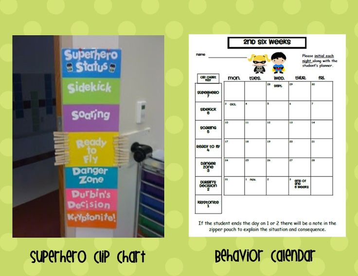 Clip Chart Behavior Calendar
