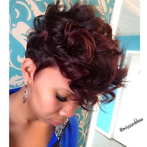 curly mohawk hairstyles