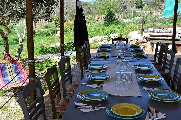 All set up ...just need to prepare our food. Sunny at the Olive Farm March 2016