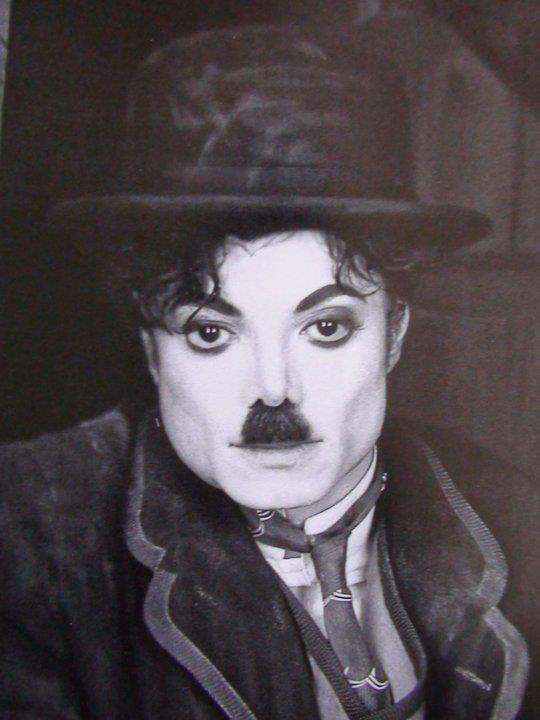 Michael as Charlie Chaplin.