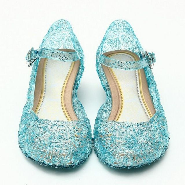 Daily Discount $6.50, Buy Children Girl Sandals Jelly Princess Dress Up Cosplay Kids Shoes Girls Mary Jane Shoes For Stage Dancing Show 25-37 High Quality