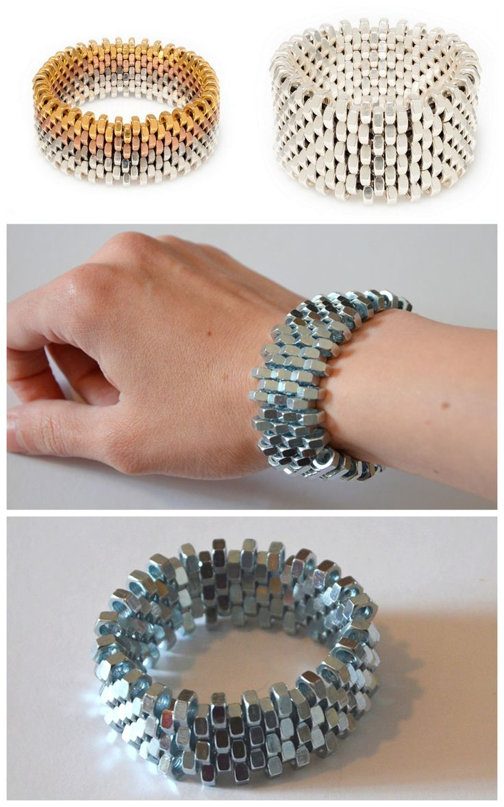 DIY Alice Menter Hex Nut BraceletMake a Knockoff Alice Menter Hex Nut Bracelet using hardware store materials. Top Photos: Alice Menter Hex Nut Bracelets; Bottom Photos: DIY by A Little Fashion For one of the best archives of DIY hardware store...