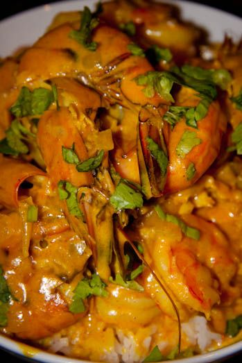 Indian Spicy Cream Prawns from simply-delicious.co.za