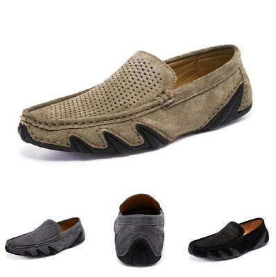 mens pumps loafers driving moccasins shoes slip on hollow