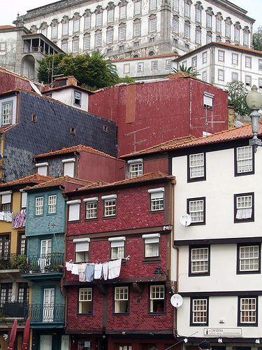 cluster of buildings in Porto