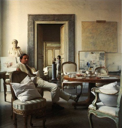 Cy Twombly -his home in Rome/the photos were taken by Horst for Vogue in 1966