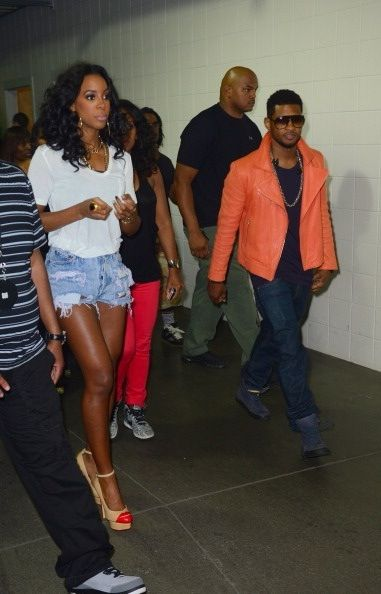 Usher and Kelly Rowland