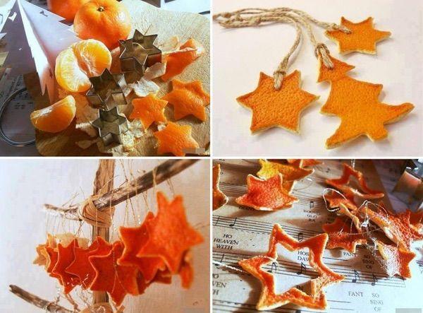 Faites sécher vos peaux de clémentine ou d'orange, puis, à l'aide de moules à sablés ... hop, le tour est joué ! Voici des jolies idées décos de Noël à faire soi-même. DÉCOUVREZ AUSSI : Recyclage créatif : les arbres de Noël les plus inventifs !…