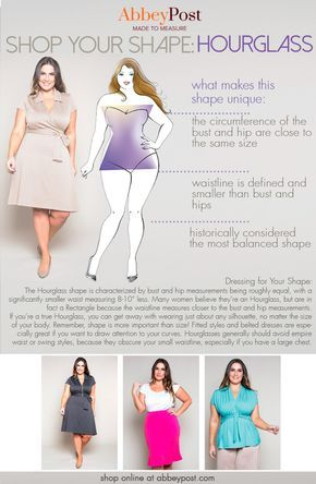If you're naturally an Hourglass body type, we have some fit advice for you! You can look great at any weight be learning how to dress for your individual body type. Learn more about an Hourglass shape by checking out this guide.