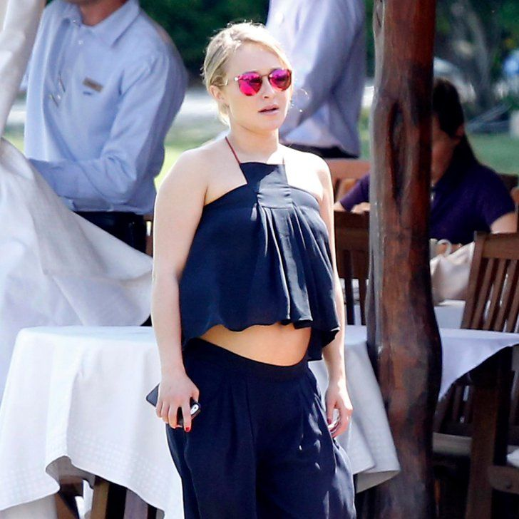 Pin for Later: Hayden Panettiere Bares Her Baby Bump in a Crop Top