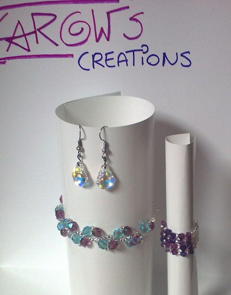 bracelet, ring and earrings