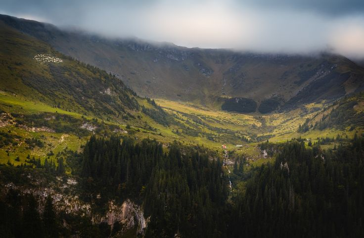 Cloudy day - A cloudy autumn day in Rodnei Mountains. View towards Stiol Lake and the Horses' Waterfall (center)