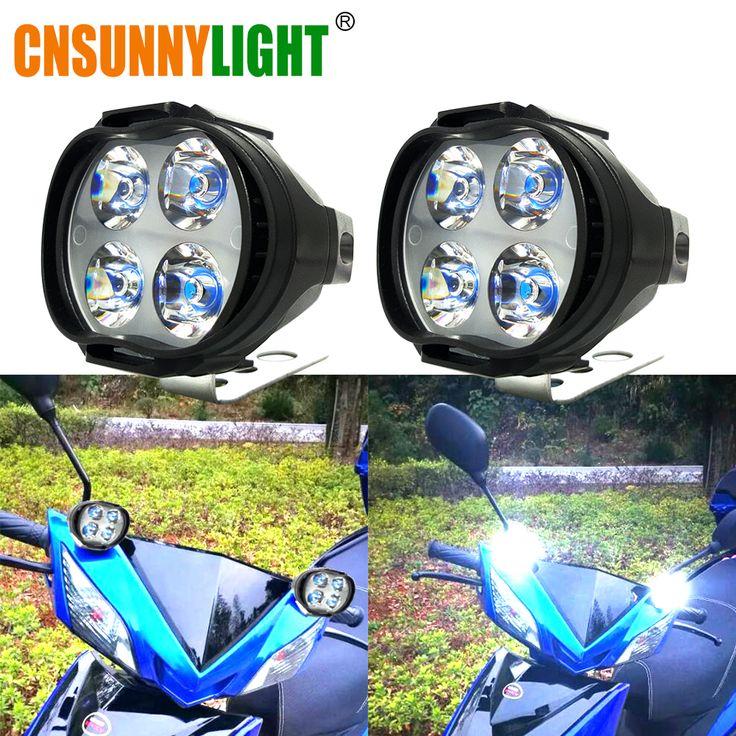 Moto cnsunnylight super bright 1000lm led del faro della lampada scooter nebbia spotlight 6500 k bianco di lavoro spot light 9-85 v