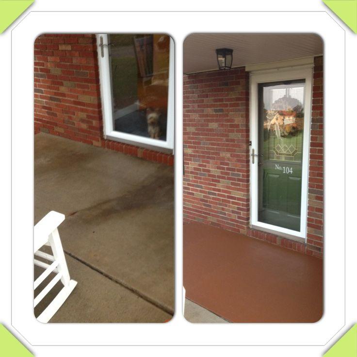 Rustoleum Deck and Concrete restore in russett.