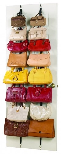great way to organize purses.