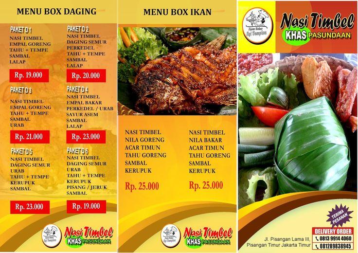Brosur Makanan Nasi Timbel | Desainer