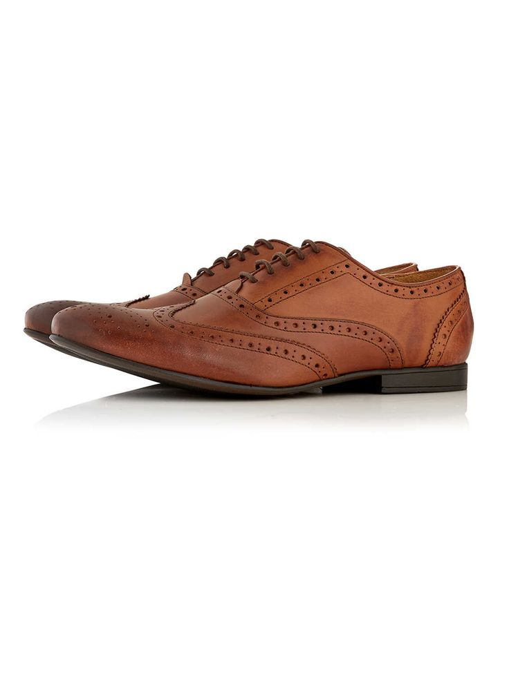 Tan Leather Brogues - Brogues - Shoes and Accessories - TOPMAN