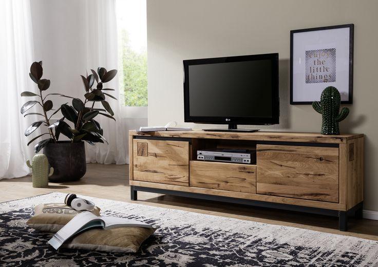 die besten 25 tv lowboard holz ideen auf pinterest tv. Black Bedroom Furniture Sets. Home Design Ideas