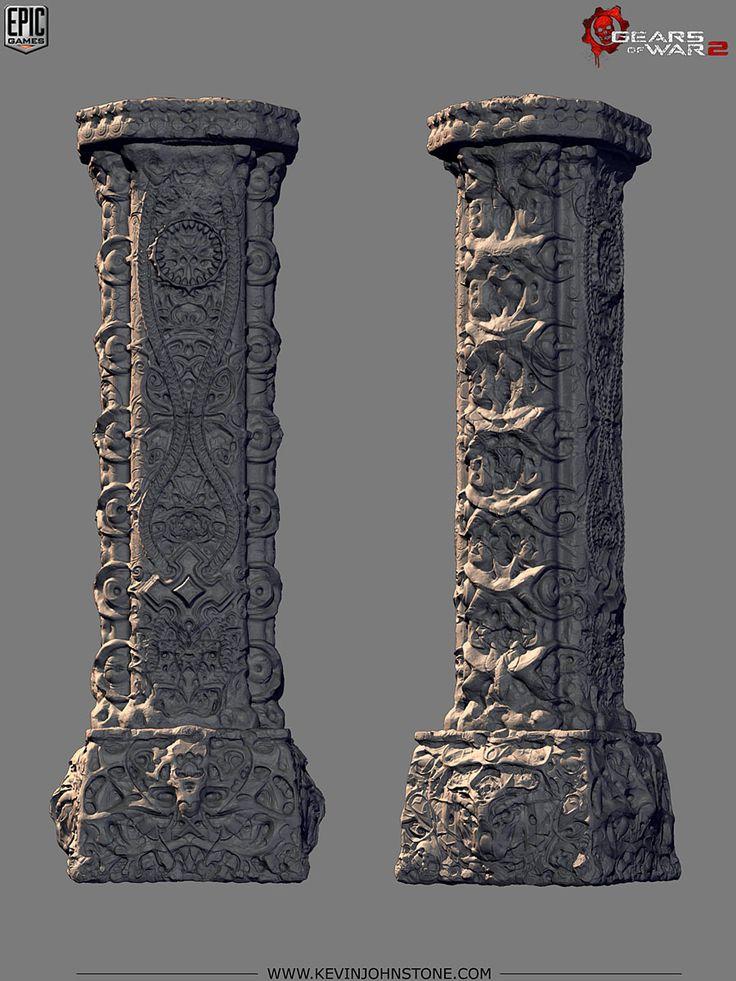 Gears of War 2 - Locust Palace BlockPillar by Kevin Johnstone