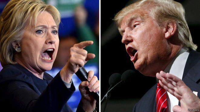 Clinton Trump'a karşı: Esas yarış şimdi başlıyor - BBC Türkçe