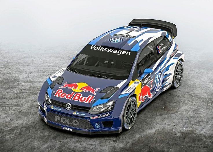 2015 Volkswagen Polo R WRC Racecar Top View